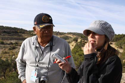 Teddy Nez and Elizabeth Wagner talk about the uranium mine and spill that contaminated his home.