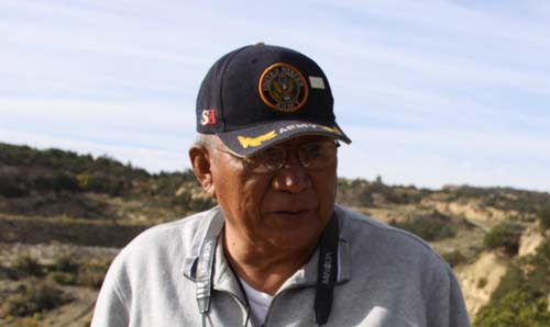 Teddy Nez's home was near a uranium mine.