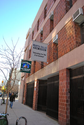 Marta Valle Secondary School in the Lower East Side.