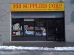 Bad weather is a boom for business at 200 Supplies Corp. in Little Italy. (photo by Meredith Hoffman)