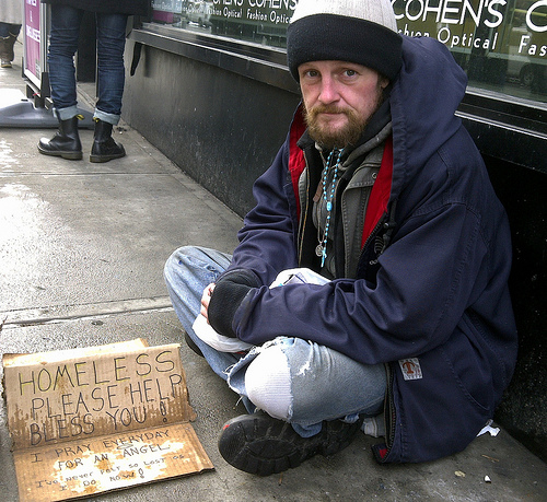 NYC Cold:  Homeless man seeks other places to stay warm