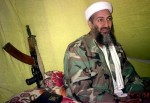 Osama bin Laden speaks to a selected group of reporters in mountains of Helmand province in southern Afghanistan .