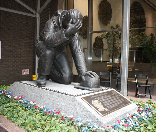 9/11 statue honors firefighters and other first responders