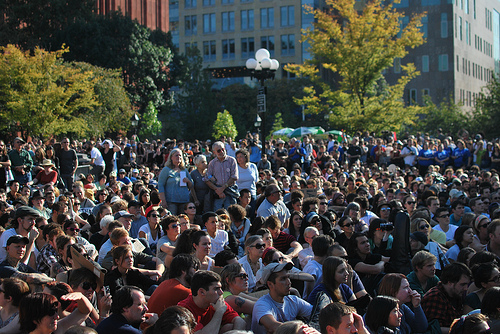 Occupy Wall Street rallies in Washington Square Park