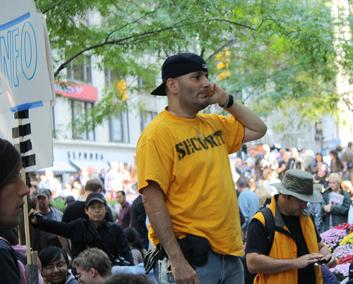 Occupy Wall Street organizes security team