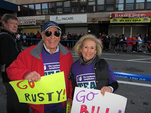 NYC Marathon: Cheering on a 50-year-old son