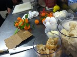 The ingredients for tangerine curd--the dessert that came with the prix fixe at Alma recently. By Edna Ishayik