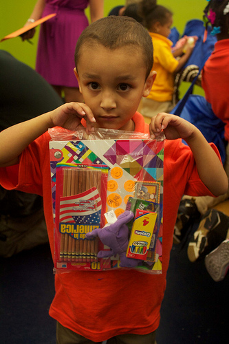 South Bronx Charter School surprises kindergartners with gift bags