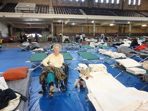 Senior citizen trapped in her apartment, finds shelter in Jersey City Armory