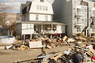 John Cori's home on Beach 92nd St in Rockaway Beach, Queens shortly after Hurricane Sandy. The home is less than 100 yards from the Atlantic Ocean, and suffered extensive foundational and structural damage. Cori's Friends of Rockaway Beach wants more of a say in how Post-Sandy restoration efforts to the beach community are implemented. Photo courtesy of John Cori.