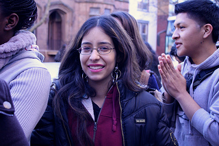 Viviana Sanchez, 19, a student at York College in Jamaica, Queens who just received deferred action said her inability to receive financial aid is forcing her to attend school part-time. Photo by Daniella Silva.