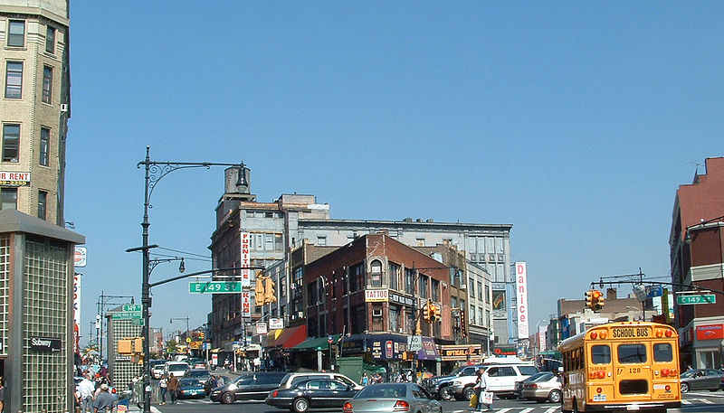 "The ""Hub"" a main shopping district of the South Bronx."