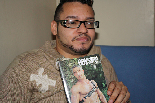 Danny Fred, 29, says he can't fit into the mold of the stereotypical gay male presented on the front cover. Photo by Rajeev Dhir.