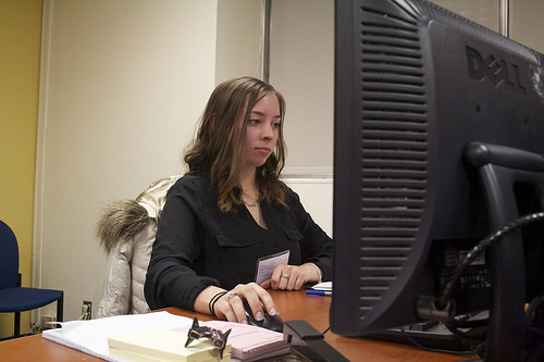 Christina Henriques, a freshman accounting major at St. John's University, said this program will give her the professional experience she needs to succeed in an accounting career. Photo credit: Leticia Miranda