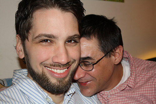 Greg Myers (left) and Marc Mitchel (right) fell in love in Alabama. The two men moved to New York City ten years ago and got married when same-sex marriage became legal in the state. Photo by Rajeev Dhir.
