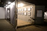 A shipping container exhibit at Photoville, a photo exhibition in Brooklyn. Photo credit: Christina Dun