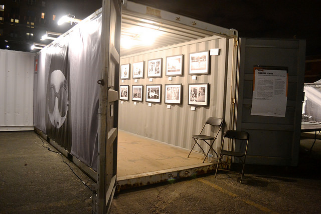 Photo show in storage containers opens in Brooklyn