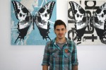 British artist, Rich Simmons, has used art as therapy to overcome a host of issues. His show opened