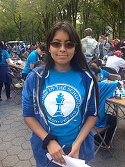 Ammy Rodriguez, 16, is the assistant director of Annual Chess-in-the-Park Rapid Open. Photo by Evgeniya Zolkina