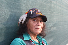 Mak Ska Higa, an Indigenous American, Vietnam Vet, and environmentalist. Photo Credit: Raz Robinson