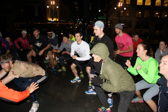 Morning bootcamps create bonds in big city