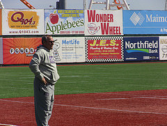 Coach Doug Kimbler watching his young team practice (Photo Credit: Ben Shapiro