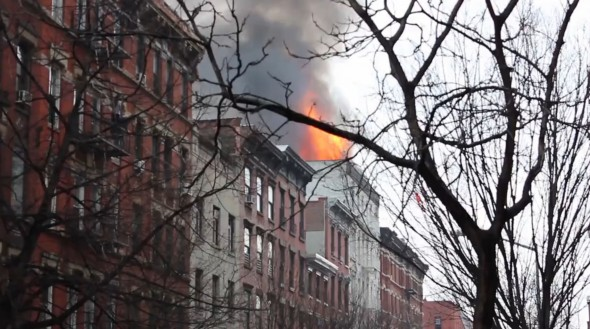 Dozens injured in East Village fire and building collapse