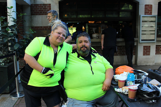 """Fat Guy Across America"" pedals to New York City"
