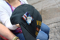 Pin given to Mike Holy by 9/11 Fireman. Photo by Alexandra Zuccaro