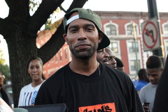 Devine Alexander is a member of Guns Down Life Up (GDLU) an organization that aims to dissuade youth from a gun-violent lifestyle. Crown Heights, Brooklyn. photo by Taisha Henry.