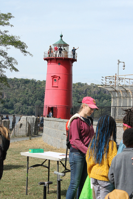 The Little Red Lighthouse, which has not been in use for decades, was the site of an annual festival today. By Karis Rogerson