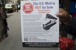Postal Service union protests outsources of jobs