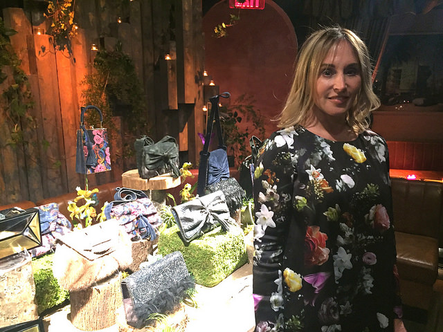 Handbag designer Jill Haber launches her latest line, 'The Enchanted Forest,' at a cocktail launch in 63 Gansevoort in New York City. Photo by Eugene Santos