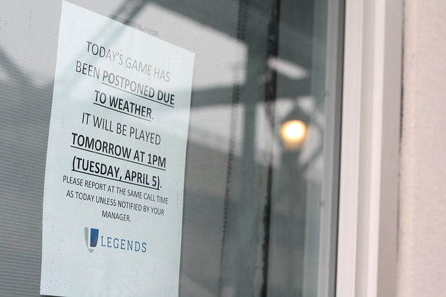 Rainy skies cancels opening day at Yankee Stadium