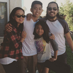 Cherry Vasquez with her husband and two children. As the working mother of the family, Vasquez has had to overcome scrutiny from friends and her parents who believe in a more traditional household environment.