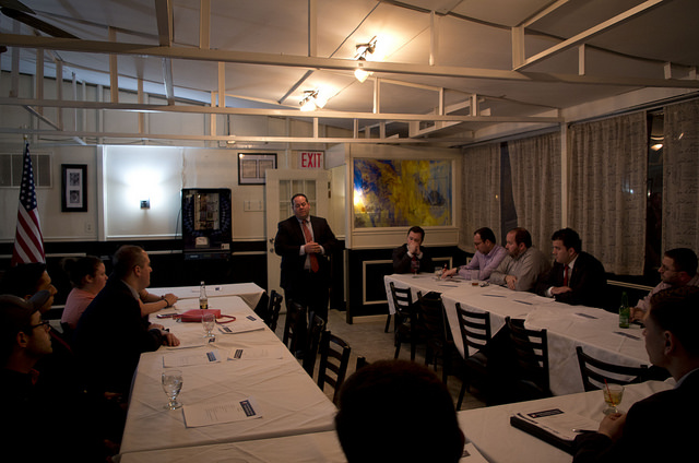 Ronald Castorina, Jr. speaks at Richmond County Young Republicans. Photo by Dale Isip.