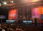 Mock presidential debate morphs into comedy