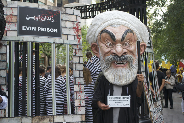 Passionate protest greet Iran's president UN visit