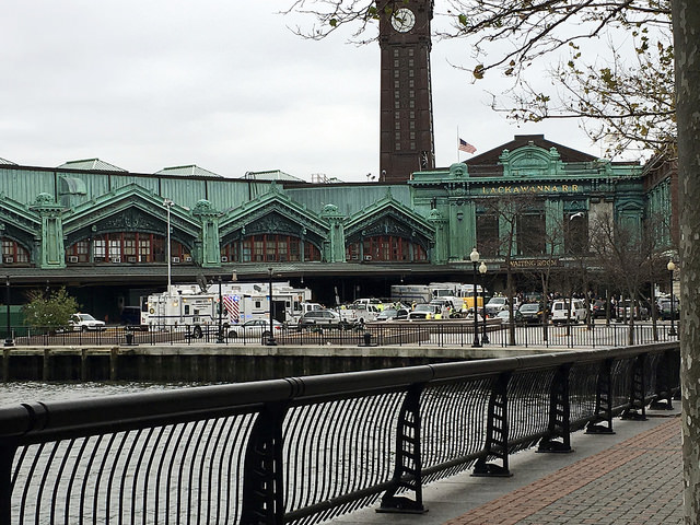 Train crash kills one and causes chaos in Hoboken