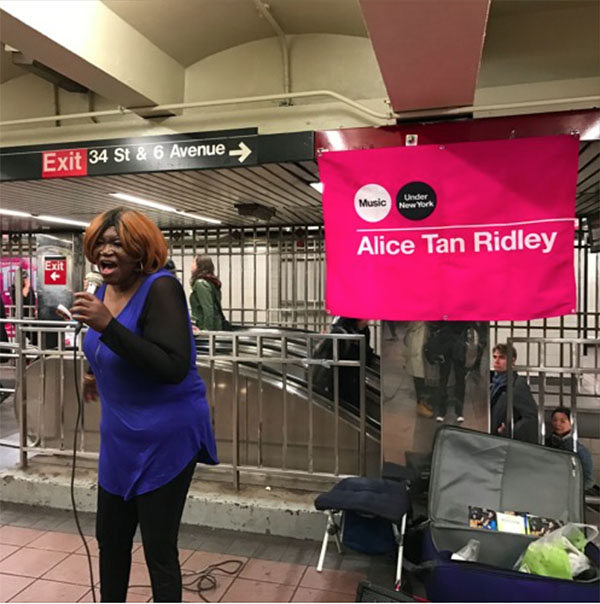 NY People: Alice Tan Ridley, The Underground Singer