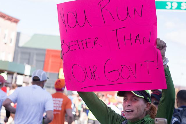 NYC Marathon: Marathon runners cheers runners