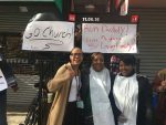 2016 NYC Marathon: A church greeting in Harlem