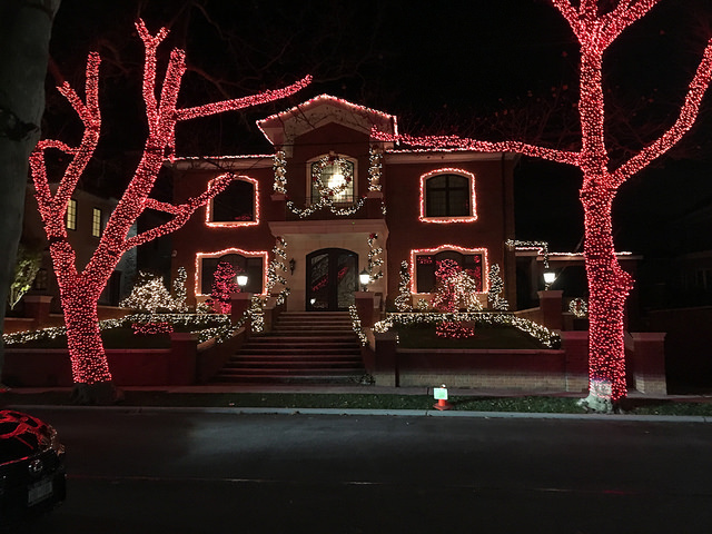 Angelo Branciforte's home in Dyker Heights was decorated by B & R Christmas Decorators for $5500. Photo by Jennifer Cohen