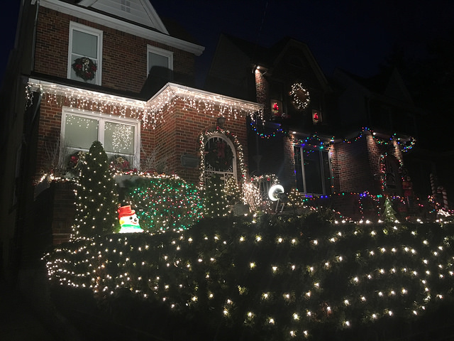 The Girgenti's put up their decorations on their home by themselves compared to other houses in the neighborhood. Photo by Jennifer Cohen