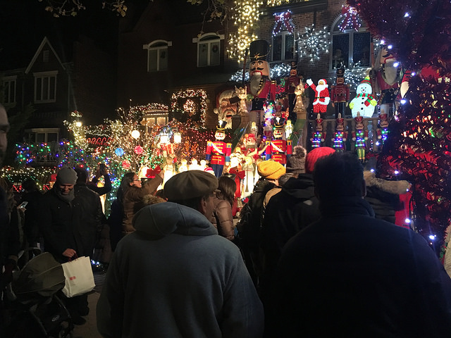 Lucy Spata's home in Dyker Heights, is completely covered in Christmas decorations. Spata started the Christmas tradition in the neighborhood in 1986 with just 40 angels. Photo by Jennifer Cohen