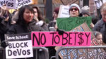 New Yorkers protest DeVos