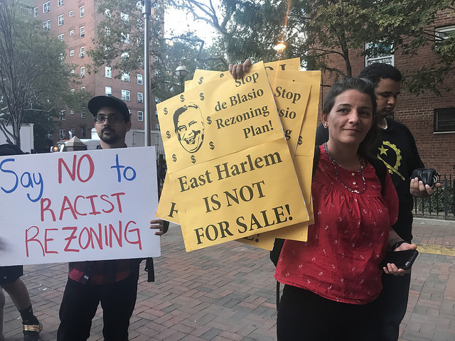 East Harlem residents protest planned rezoning