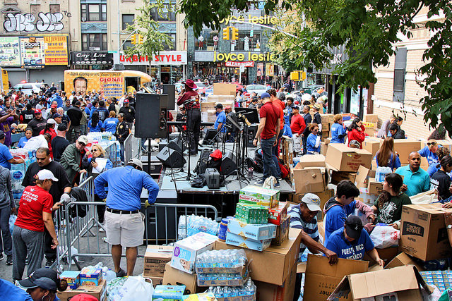 Bronx Latinos support Puerto Rican and Mexican disaster victims