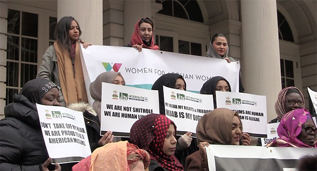 Muslim women demand an end to violence aimed at them