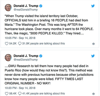 Some Puerto Ricans angered over Trump politicizing hurricane's updated death toll